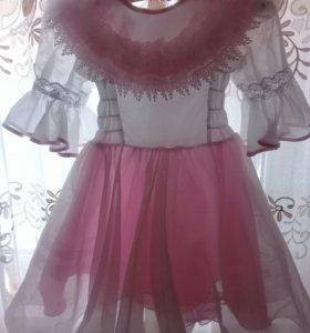 Платье на девочку 110см