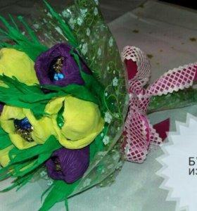Прекрасный подарок для милых дам-букеты из конфет