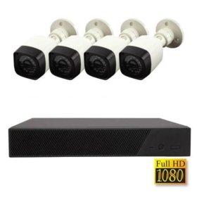 Комплект AHD видеонаблюдения 1.3 мп 4 камеры