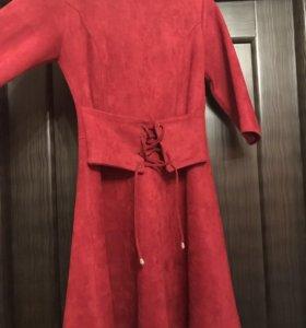 Замшевое платье (новое)