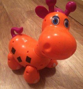 Игрушка ходячий жираф свет+звук