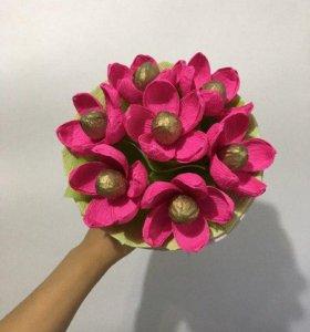 Оригинальные сладкие цветочные подарки к празднику