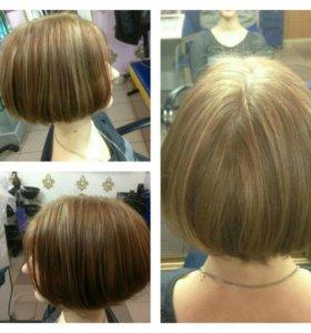 Модные  окрашивание волос