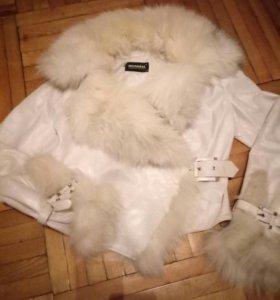 Куртка кожаная(мех и кожа натуральные)