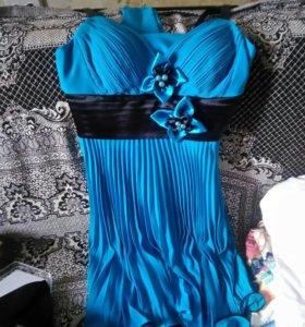 Платье на выпускной, пиджачок и шарфик