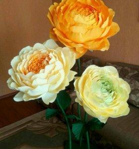 Большие Цветы из бумаги куст хризантемы