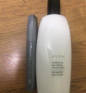 Тушь и молочко для снятия макияжа