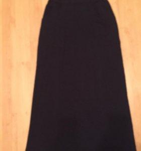 Прямая юбка в пол с карманами