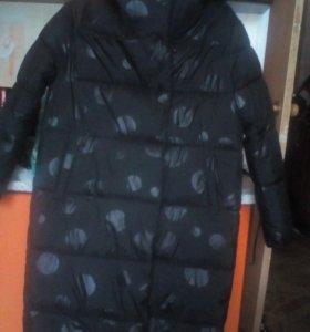Модное дутое пальто