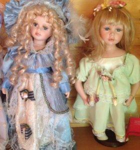 Оригинальные фарфоровые куколки.