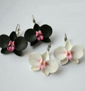 Серьги- орхидеи