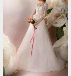 """Свадебное платье """"Альбертина"""" .Цвет Айвори."""