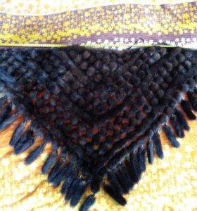 Меховой шарф-косынка