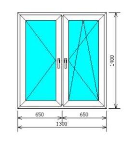 "Пластиковые окна Арзамас ""Саламандер SL-76 1,3x1,4"