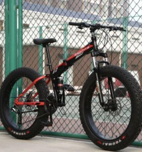 Велосипед fatbike BNQMTB black&red