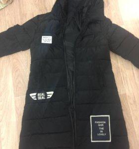 Куртка пальто зимняя с капюшоном