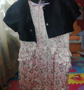 Платье,балеро в подарок.