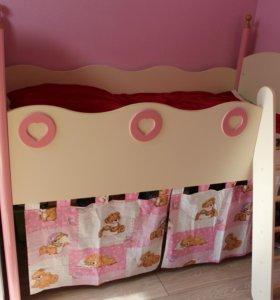 кровать для девочки, с матрасом