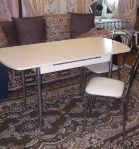 Комплект стол, 4 стула