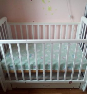 Детская кроватка Соня-5 белого цвета