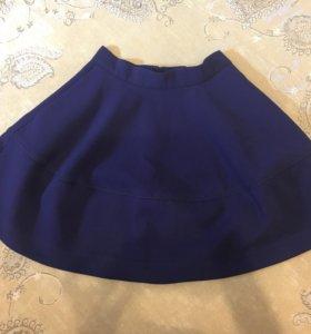 Темно-синяя юбка H&M