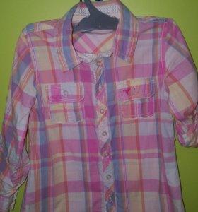 хлопковая рубашка на девочку