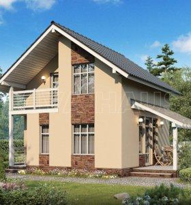 Дом из СИП-панелей СОЛО (домокомплект) 76м2