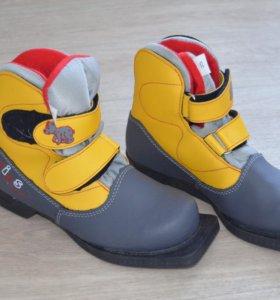 Лыжные ботинки размер 35, 32 цена за пару