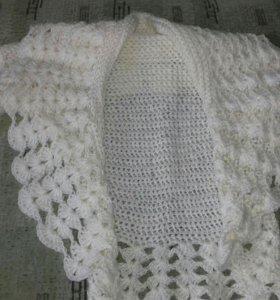 Накидка вязанная