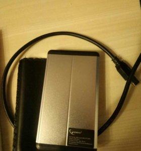 Внешний бокс Gembird 1×2.5 USB 3.0, серебристый