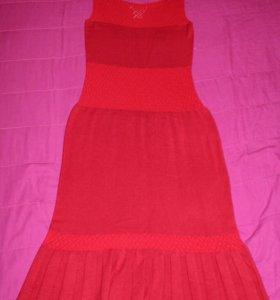 Необычное красивое вязаное платье