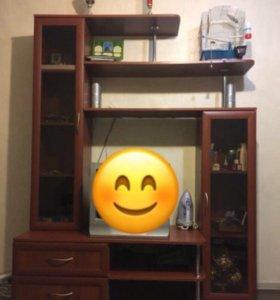 Стенка горка для телевизора стеллаж стелаж шкаф