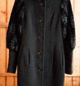 Дизайнерское демисезонное пальто
