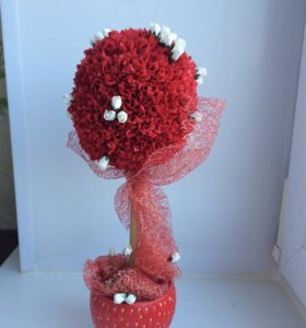 Топиарий «Клубничная роза»