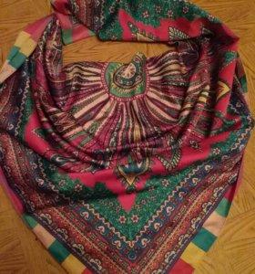 Платок 20%нат.шелк.новый и шарфы