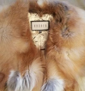 Меховая жилетка из лисы(цельные шкурки, не росшив)