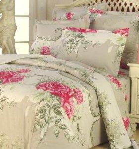Двуспальное сатиновое постельное белье