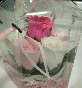 """Подарочное мыло """"Букет роз"""""""