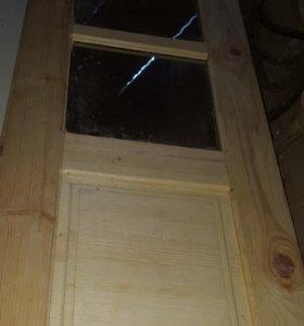 Двери новые межкомнатные из массива натур. дерева