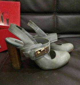 Туфли женские натуральная кожа (нубук)