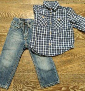 Комплект джинсы Old Navy и рубашка HM