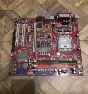 Старая материнская плата от msi+процессор