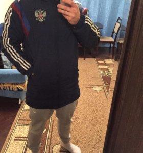 Куртка, Adidas сборной России, удлинённая