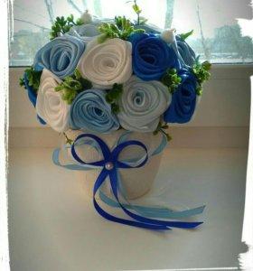 Композиция с розами ручной работы