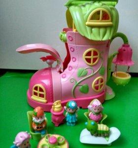 Домик кукольный с фигурками замок феи