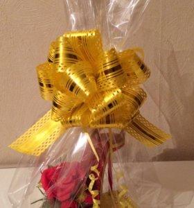 Подарок букет из конфет