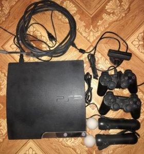 Sony PlayStation 3, 500gb + 2 джойстика, 2 PS move