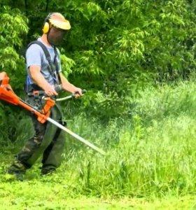 Покос травы.Уборка. Вспашка.