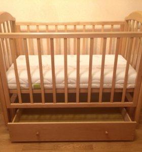 Детская кроватка, маятник
