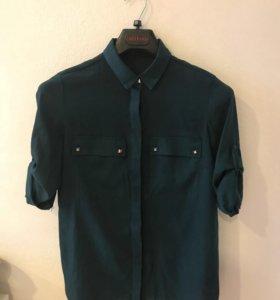 Рубашка темно-зелёная